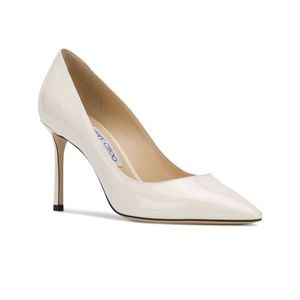 JIMMY CHOO off white Romy 85 patent leather 38